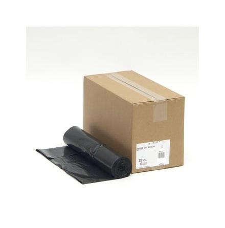 Sopsäck svart 125L  25st/rulle, 6rullar/förp